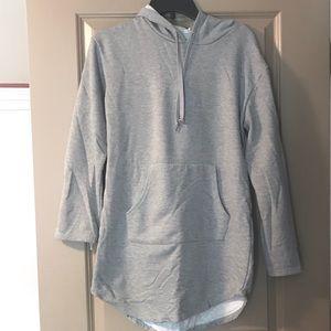 Grey hoodie sweatshirt dress
